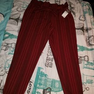 New belted paper bag waist pants